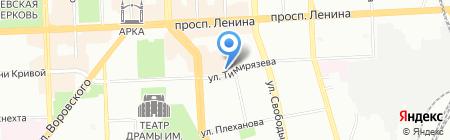 Кинотеатр им. А.С. Пушкина на карте Челябинска