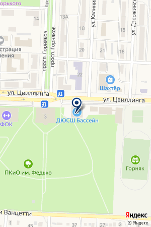 СПОРТИВНЫЙ КОМПЛЕКС ГОРНЯК на карте Коркино
