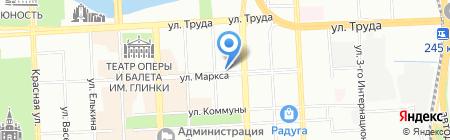 Этуаль де Жэнесс на карте Челябинска