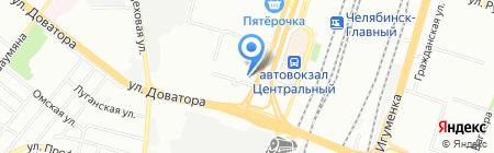 Пункт приема платежей Система Город на карте Челябинска