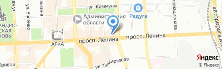 Японские часы на карте Челябинска