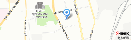 Малахит на карте Челябинска