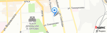 Чанг на карте Челябинска