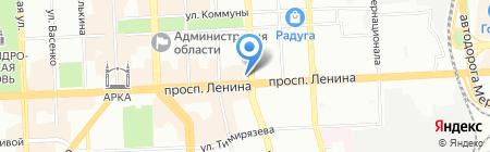 Уральские сувениры на карте Челябинска