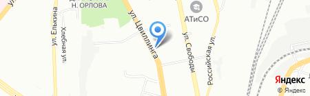 Оптимальный вариант на карте Челябинска