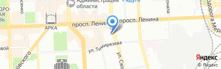 Аленушка на карте Челябинска