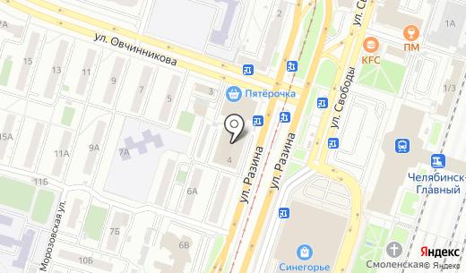 DDR Group. Схема проезда в Челябинске