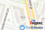 Схема проезда до компании Дэфо Южный Урал в Челябинске