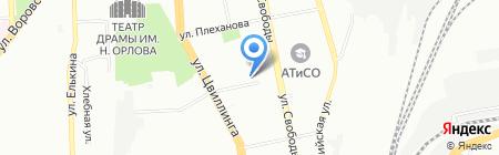 Сёма на карте Челябинска