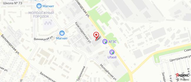 Карта расположения пункта доставки DPD Pickup в городе Челябинск