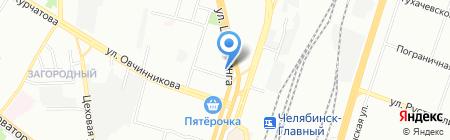 Магазин автозапчастей для ВАЗ на карте Челябинска