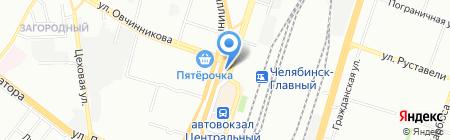 Деньга на карте Челябинска