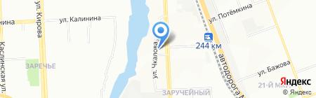 Кыштымская швейная фабрика на карте Челябинска