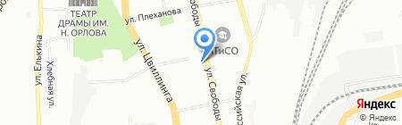 Машунька на карте Челябинска