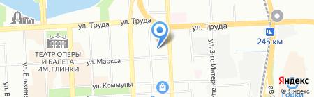Пешеходный на карте Челябинска