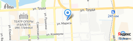 Керамик Холл на карте Челябинска