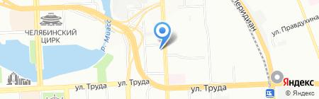 НФК на карте Челябинска
