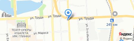 Сеть шиномонтажных мастерских на карте Челябинска