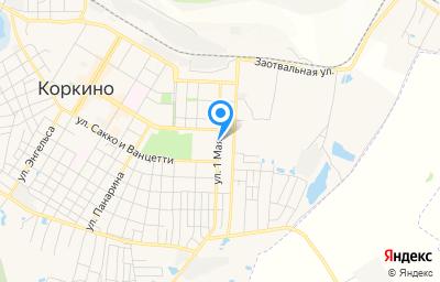 Местоположение на карте пункта техосмотра по адресу Челябинская обл, г Коркино, ул 1 Мая, д 23