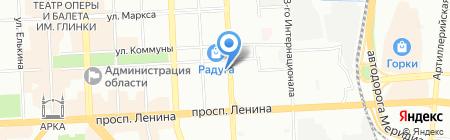 Шанталь на карте Челябинска