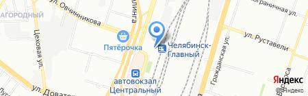 Банкомат Запсибкомбанк на карте Челябинска
