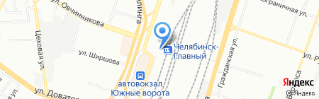 Банкомат АКБ Росбанк на карте Челябинска