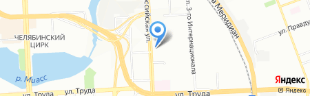 Парус-Челябинск на карте Челябинска