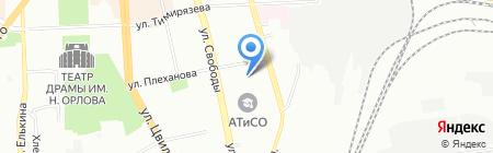 Урал-Денвер на карте Челябинска