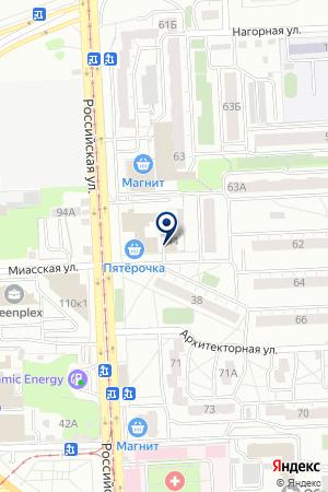 Азимут на карте Челябинска