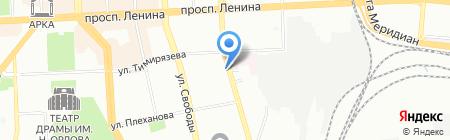 Сен Пари на карте Челябинска