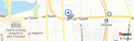 Приветливый на карте Челябинска