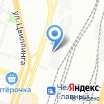 ЦЕНТР ГИГИЕНЫ И ЭПИДЕМИОЛОГИИ ПО ЖЕЛЕЗНОДОРОЖНОМУ ТРАНСПОРТУ на карте Челябинска