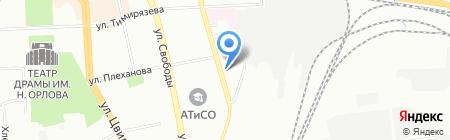 Мокшанская роза на карте Челябинска