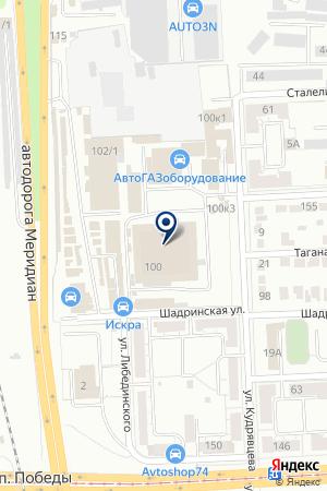 УРАЛАВТОЧЕХЛЫ на карте Челябинска