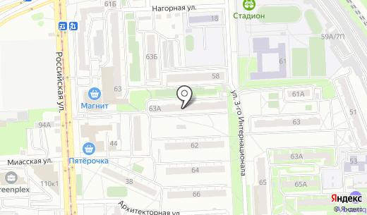 Банкомат Уральский банк Сбербанка России. Схема проезда в Челябинске