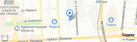 Центральный рынок на карте Челябинска