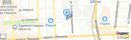 Магазин цветов на площади МОПРа на карте Челябинска