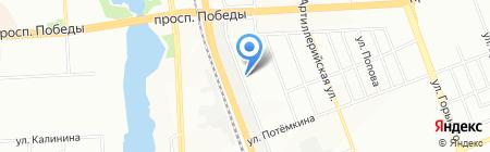 Детский сад №105 на карте Челябинска