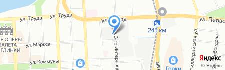 Марионда на карте Челябинска