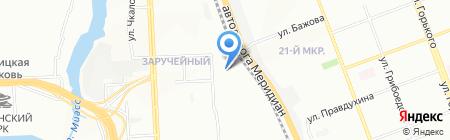 Фаон на карте Челябинска