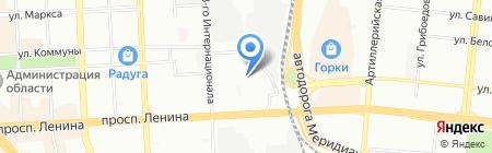Смайлик на карте Челябинска