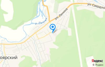 Местоположение на карте пункта техосмотра по адресу Свердловская обл, пгт Белоярский, ул Юбилейная, стр 13