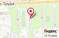 Схема проезда до компании Техпроцесс в Челябинске