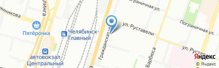 Смайл на карте Челябинска