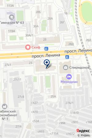 УНИВЕРСАМ ВИКТОРИЯ на карте Челябинска