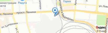 Меридиан на карте Челябинска