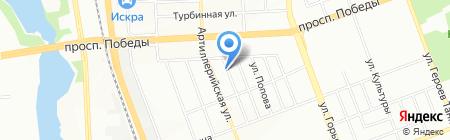 Русская баня на дровах на карте Челябинска