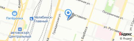 Орбита на карте Челябинска