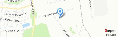 Удачная Дача на карте Челябинска
