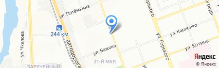 Шиномонтажная мастерская на Артиллерийской на карте Челябинска